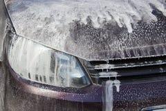 Mousse de savon de voiture Photos stock
