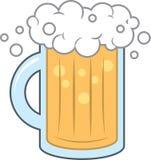 Mousse de tasse de bière Photo libre de droits
