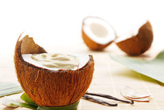 Mousse della noce di cocco Fotografia Stock