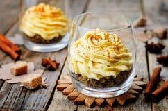 Mousse della torta di formaggio della spezia della zucca Fotografia Stock Libera da Diritti
