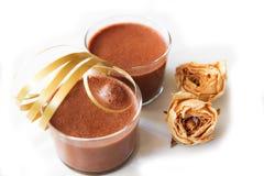 Mousse di Chocolat Fotografie Stock