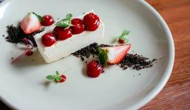Mousse di cioccolata bianca congelata Fotografie Stock