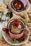 Mousse di cioccolato Immagini Stock