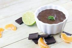 Mousse di cioccolato fotografia stock libera da diritti