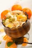 Mousse effectuée à partir des oranges et des pistachioes Image libre de droits