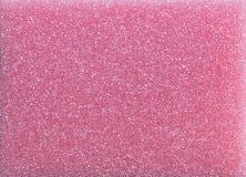 Mousse en plastique rose d'éponge Images libres de droits