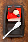 Mousse fraîche de yaourt de fraise Images stock