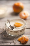 Mousse with a mandarine Royalty Free Stock Images