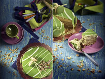 Mousse of pistachio Stock Photos