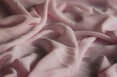 Mousseline de soie rose Images libres de droits