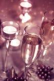 Moussera Champagne Glasses (beröm) Royaltyfria Bilder