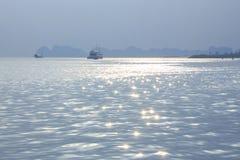 Moussera på havet Arkivbild