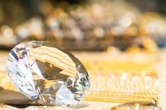 Mousserad diamant Arkivbild