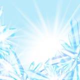 Mousserande iskristaller Arkivbild