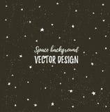 Mousserande natthimmel med stjärnor och mörkt utrymme Dragen stilfull bakgrund för vektor hand royaltyfri illustrationer