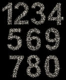 Mousserande nummeruppsättning som göras av glänsande stjärnor, från  Arkivbilder