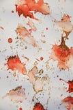 Mousserande vaxartade orange fläckar och skuggor Vaxartad bakgrund för vinter Arkivfoton