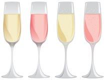 Mousserande vinexponeringsglas Royaltyfria Foton