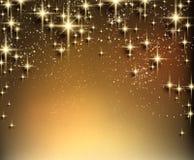 Mousserar stjärnklar bakgrund för jul med Royaltyfria Foton