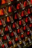 Mousserende wijn op rek Royalty-vrije Stock Foto