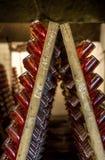 Mousserende wijn op rek 2 Royalty-vrije Stock Afbeelding