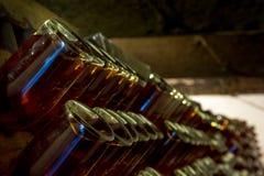 Mousserende wijn op rek 5 Royalty-vrije Stock Fotografie