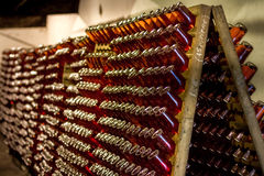 Mousserende wijn op rek 7 Royalty-vrije Stock Afbeelding
