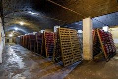 Mousserende wijn op rek 8 Royalty-vrije Stock Fotografie