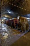 Mousserende wijn op rek 9 Stock Foto