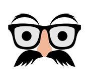 Moustache και κοστούμι γυαλιών στοκ εικόνες με δικαίωμα ελεύθερης χρήσης