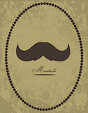 Moustache background vector illustration