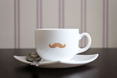 Moustache cup Stock Images