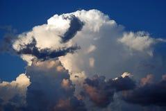 Moustache della nube Fotografie Stock