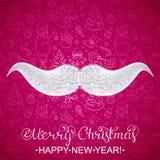 Moustache du ` s de Santa Claus Photo libre de droits