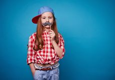 Moustache fun Royalty Free Stock Photo