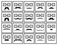 Moustache. Illustrator desain .eps 10 Stock Photos