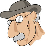 Moustache man. Elderly man with moustache and serious expression Royalty Free Stock Photo