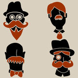 Moustache Men Stock Photos