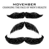Movember mustache set stock images
