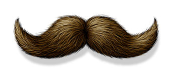 Moustache no fundo branco Fotografia de Stock Royalty Free