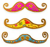 Moustache Paint Doodles Royalty Free Stock Photo