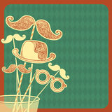 Moustache party background.Vector illustration Royalty Free Stock Images