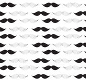 Moustache Seamless Pattern Vector Illustration Royalty Free Stock Images