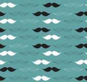 Moustache Seamless Pattern Vector Illustration Royalty Free Stock Photos