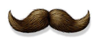 Moustache su priorità bassa bianca Fotografia Stock Libera da Diritti