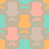 Moustache vector seamless pattern Stock Photography