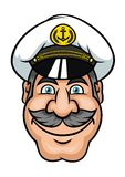 Moustached sailor or ship captain Royalty Free Stock Image