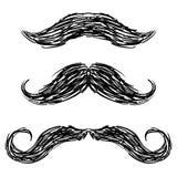 Moustachen skissar Arkivbilder
