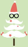Moustaches Christmas tree Royalty Free Stock Images