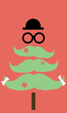 Moustaches Christmas tree Royalty Free Stock Photography